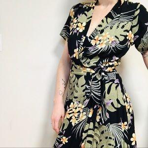 VINTAGE Tommy Bahama Hawaiian Wrap Dress